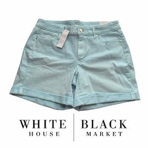 "White House Black Market Mid-Rise 5"" Short Size 8"